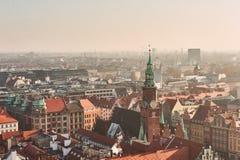 Средневековая часть 'aw WrocÅ в Польше Стоковое Изображение RF