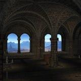 средневековое место иллюстрация штока