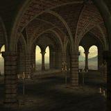 средневековое место иллюстрация вектора