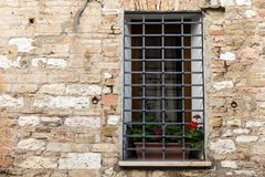Средневековое окно стены Стоковые Фото