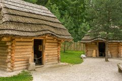 Средневековое село стоковая фотография