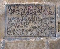 Средневековое сказание о San Pedro в Aibar, Наварре Стоковые Изображения RF