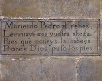 Средневековое сказание о San Pedro в Aibar, Наварре Стоковое Изображение RF