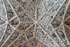 Средневековое украшение потолка Стоковые Фотографии RF