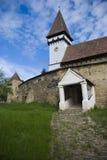 средневековое укрепленное церковью Стоковые Изображения RF
