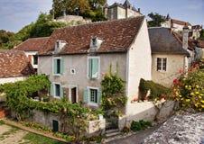 Средневековое французское село Стоковое Изображение RF