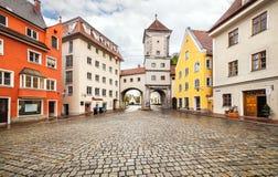 Средневековое lech Landsberg am городка, Германия Стоковая Фотография RF