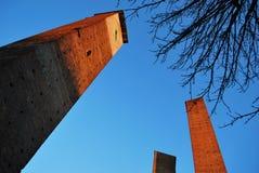 средневековые башни стоковое фото rf