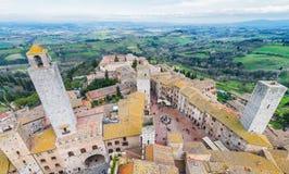 Средневековые башни San Gimignano, Тосканы Стоковая Фотография