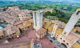 Средневековые башни San Gimignano, Тосканы Стоковые Изображения