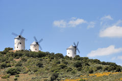 средневековые ветрянки Испании Стоковое Фото