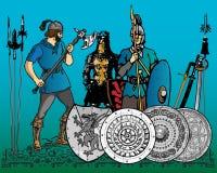 средневековые воины Стоковая Фотография RF