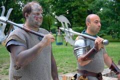 средневековые воины Стоковые Фото