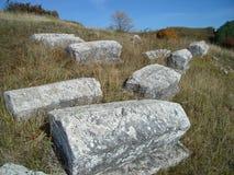 Средневековые надгробные плиты Стоковое Изображение RF