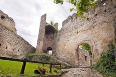 Средневековые руины замока Стоковая Фотография RF