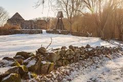 Средневековые руины часовни Стоковые Изображения RF