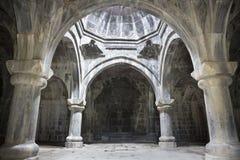 Средневековый армянский монастырь Haghpat Интерьер gavit Hamazasp столетие 10 стоковые фото