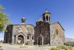 Средневековый армянский монастырь Saghmosavank, расположенное около ущелья реки Kassakh Район Ashtarak стоковое изображение rf