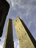средневековый близнец башен Стоковая Фотография RF