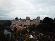 Средневековый великобританский замок стоковое изображение