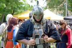 средневековый воин Стоковые Фотографии RF