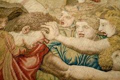 средневековый гобелен Стоковые Изображения
