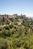 Средневековый городок вершины холма Gordes Провансаль стоковое фото