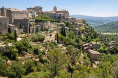 Средневековый городок вершины холма Gordes Провансаль стоковые фото