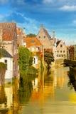 Средневековый город сказки Стоковая Фотография RF