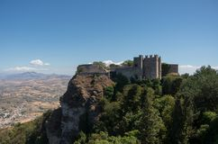 Средневековый замок Венеры в Erice, Сицилии стоковые изображения