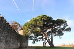 Средневековый замок в сотернах Стоковые Фото