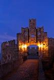 Средневековый замок Родос Греция Стоковые Изображения RF