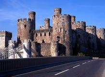 Средневековый замок, Conway, вэльс. Стоковое Изображение RF