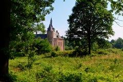 Средневековый замок Horst, Бельгия Стоковое Фото