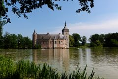 Средневековый замок Horst, Бельгия Стоковые Фото