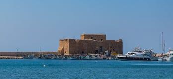 Средневековый замок Paphos i стоковое фото rf
