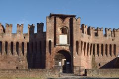 Средневековый замок Soncino - Кремоны - Италии 04 Стоковая Фотография RF