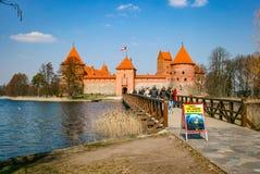 Средневековый замок Trakai стоковые изображения rf
