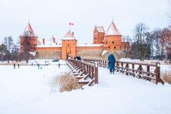 Средневековый замок Trakai, Вильнюса, Литвы стоковые изображения rf