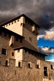 Средневековый замок Varona в Alava, Баскония стоковое изображение rf