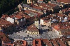 средневековый квадратный городок Стоковое Изображение RF