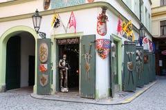 средневековый магазин стоковая фотография rf