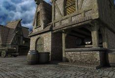 средневековый магазин Стоковые Фото