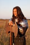 Средневековый рыцарь Стоковое фото RF