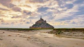 Средневековый Святой Мишель Mont аббатства, Нормандия, Франция стоковая фотография