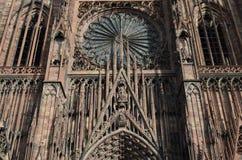 Средневековый собор Страсбурга в франция Стоковая Фотография RF