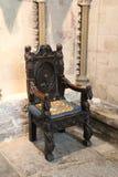 Средневековый стул стоковые изображения rf