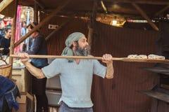 Средневековый фестиваль рынка в испанской деревне Calonge Стоковые Изображения RF