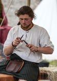Средневековый шотландский ювелир Стоковые Фотографии RF