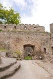 Средневековый ярд замока Стоковое Изображение